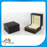 Rectángulo de regalo de empaquetado del reloj de cuero de madera de encargo clásico para los relojes