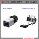 L'UL Approved Spingere-tira IP65 Waterproof 8p8c Ethercon RJ45 Connector