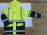 Hi Visibility Polyester Оксфорд 6 в 1 Jacket с Reflective Tape