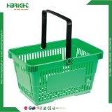 Cestino di acquisto di plastica della maniglia del doppio dei pp per l'ipermercato del supermercato