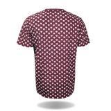 Maglietta su ordinazione di stampa di sublimazione del poliestere dei vestiti di modo per gli uomini