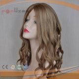 Parrucca superiore di seta bionda di vendita calda delle donne dei capelli umani