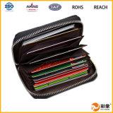Suporte de cartão de couro real do negócio novo, suporte de cartão do crédito