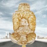 冬の長い毛は車のマットを緩和する