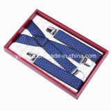 Heavy Duty Jacquard Zebra Pattern X-Shape Men Suspenders (BD1029)