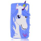 Caixa Curly do telefone móvel do silicone do cavalo das orelhas do chifre do coração para a galáxia S3 S4 S5 S6 S7 de Samsung (XSDW-011)