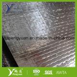 Hoja radiante tejida película metalizada Inferior-e del ático de la hoja de la barrera de la tela de PP/PE