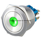 25mm Momentary 1no1nc DOT LED Metal Pushbutton Switch (Edelstahl)