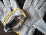 Перчатка водителя кожи мебели светлого цвета