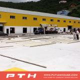 鉄骨構造の倉庫か工場または研修会