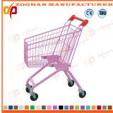 Draht-Metallsupermarkt-Einkaufswagen-Laufkatze der Kinder fahrbare (ZHt255)
