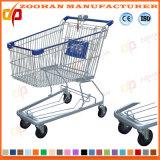 Plastikdraht-Metallsupermarkt-Einkaufen-Laufkatze (ZHt238)