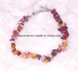 La piedra preciosa natural de la moda mujeres de los hombres de cristal pulsera de cuentas Carming Mookite Chakra