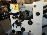 Película plástica de modelo pequeno que corta a máquina do rebobinamento