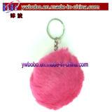 昇進のギフトのキーホルダーのギフト(G8023)を広告する最もよい毛皮の球Keychain