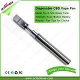 Petrolio di vetro a perdere Vape Ecigarette dell'O2 Cbd di Ocitytimes