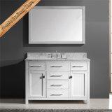Fed-1057 72inch doppelte Wannen-Carrara-weiße MarmorspitzenEspresso-Badezimmer-Eitelkeit kombiniert