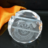 Clear en blanco Crystal Paperweight para Office Decoration