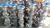 ANSI 150lb Ss304/316 플랜지를 붙이는을%s 가진 전기 공 벨브