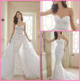 Vestidos de casamento formais nupciais Y11652 da sereia dos vestidos do laço
