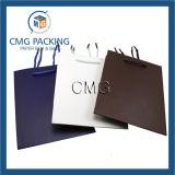 Saco de mão de papel personalizado da cor luxo puro (DM-GPBB-125)