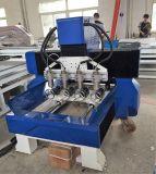 Máquina de la carpintería del CNC para el grabado plano y rotatorio con 4 cabezas
