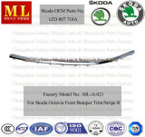 Chromed di destra Strip, Front Bumper Trim per Skoda Octavia From Year 2004 (OEM Parte no.: 1ZD 807 718A)