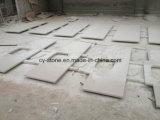 Weiße künstliche Steinquarz-Badezimmer-Eitelkeits-Oberseiten für Hotel/Handelsprojekt mit Wannen