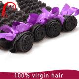 Extensão crua profunda brasileira do cabelo humano de produto de cabelo 100% da onda Remy