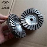 Спеченный диск Polished каменного конкретного диаманта этапа Turbo чашки меля