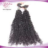 100% Curly peruanos de Remy do Virgin tecem extensões do cabelo humano