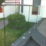 ステンレス鋼のFramelessの壁に取り付けられたガラス柵(HR1300V-3)