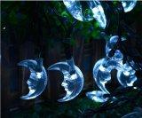 Luna de la luz de la cadena de la energía solar 20-LED por el Nuevo-Año Lh-Ss21 de la boda de la Navidad