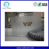 Cartão transparente do animal de estimação do espaço livre do cartão do PVC do plástico