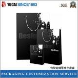 Bolsa de papel del negro estupendo del diseño que hace compras
