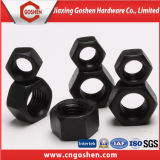 Schwarze Sechskantmutter der Kohlenstoffstahl-verzinkte Sechskantmutter-DIN934 DIN6915
