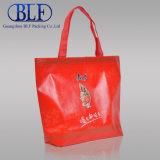 販売(BLF-NW158)のための赤い薄板にされたプラスチックショッピング・バッグ