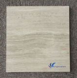Polished 자연적인 백색 목제 곡물 대리석 석판