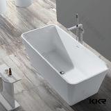 Bañera de piedra blanca mate al por mayor de la resina