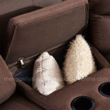 Esquina reclinable sofá de la tela (778 #)