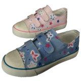 Neueste Art-Flausch-Art-Großverkauf-flache Kind-rosafarbene Segeltuch-Schuhe