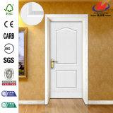 Porta interior moldada moldada do projeto de madeira do MDF do Primer/folheado branco HDF/