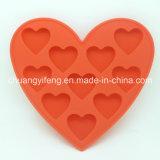 Moulage en forme de coeur de chocolat/glaçon de silicones de modèle