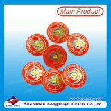 Einfacher Entwurf geprägt ringsum Abzeichen mit eleganter Farbe für Großverkauf