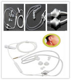 3.5mm Stereo Air Spring Conduit Earhook Headphone Anti Radiation Earphone para o iPhone