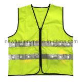 Polyester En471 100% strickte LED-blinkende gelbe reflektierende Sicherheits-Weste