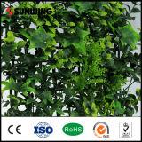 Seto y cerca artificiales baratos verdes de la estera del boj para el jardín de interior