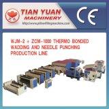 Chaîne de production de poinçon métallisée thermo de l'ouate Wjm-2+Zcm-1000 et du pointeau