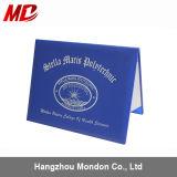 Glatter Leatherette-Diplom-Deckel mit kundenspezifischem Folien-Firmenzeichen