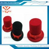Caja de joyería pendiente del sombrero del terciopelo del anillo Shaped caliente barato del pendiente